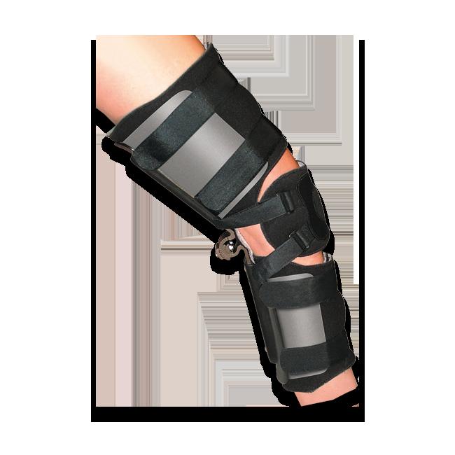 KO KMO Knee Orthosis (w/Plastic Thigh & Calf Panels) Adult Black